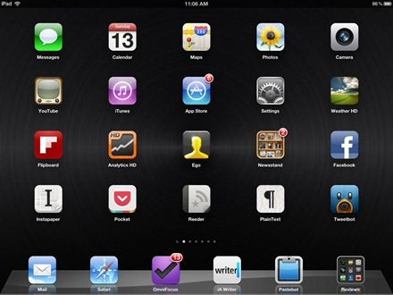 Black Vinyl Microgrooved iPad home screen