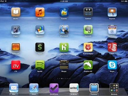 Blue Rocks iPad home screen