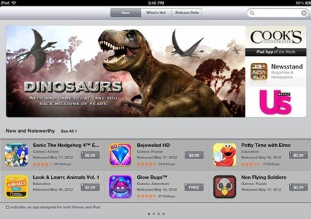 Dinosaurs App Store Featured section