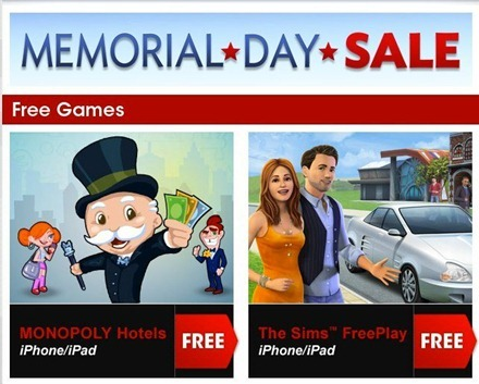 EA Memorial Day Deals for iPad