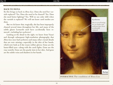 Cleaning Mona Lisa iBook