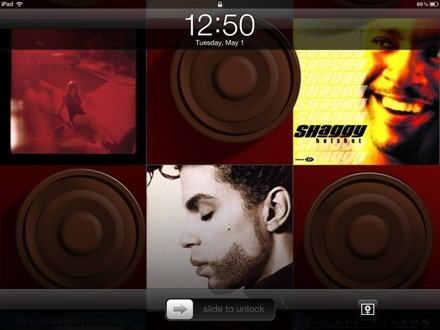 Album Art Home Screen Wallpaper iPad app
