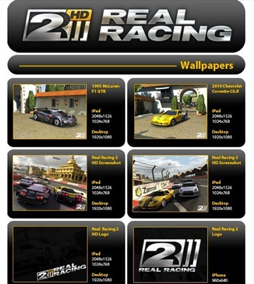 Real Racing 2 iPad wallpapers