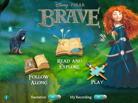Brave Storybook Deluxe iPad app
