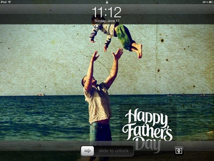 Fathers Day iPad wallpaper