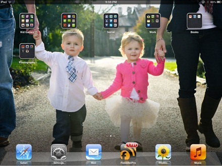 JStrother iPad home screen