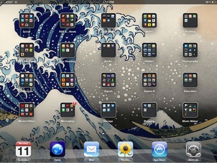 Martha Sperry iPad home screen
