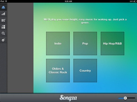 Songza iPad app