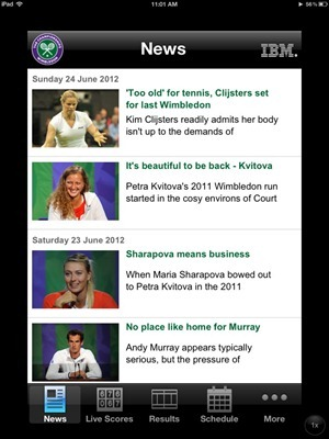 Wimbledon Official app