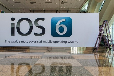 iOS 6 Banner up