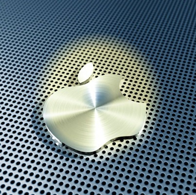 3D Apple Logo Colorized iPad wallpaper