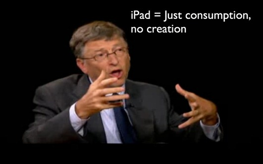 Bill Gates on iPad