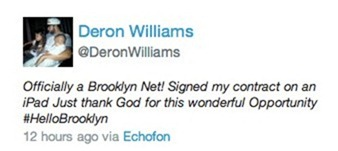Deron Williams tweet