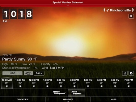 Weather HD 2 iPad app