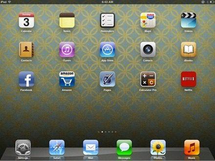 Lee Sandstead iPad home screen