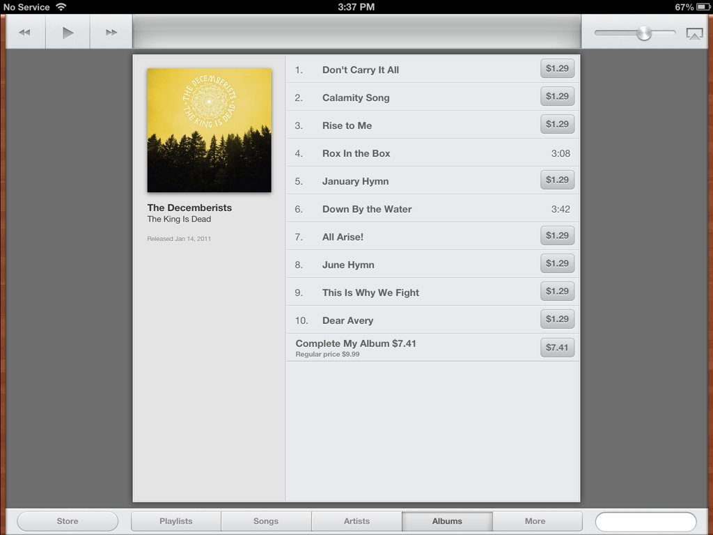 iOS 6 Tidbits: Complete My Album Now Available in the Music