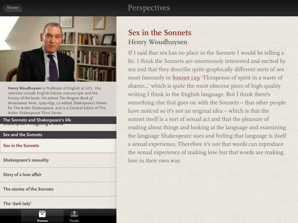review the sonnets by william shakespeare for ipad ipad insight the sonnets by william shakespeare ipad app