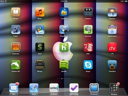 Red Blue Green Angular iPad home screen