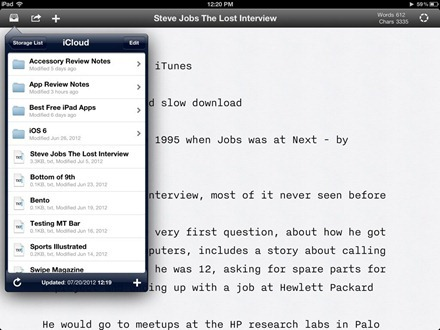 iA Writer for iPad