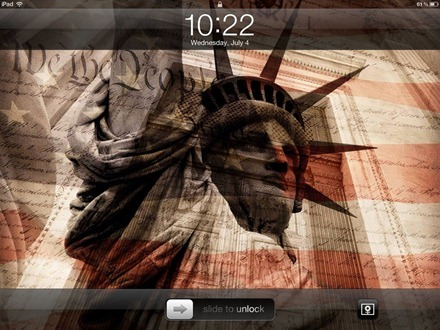 iPad 4th of July