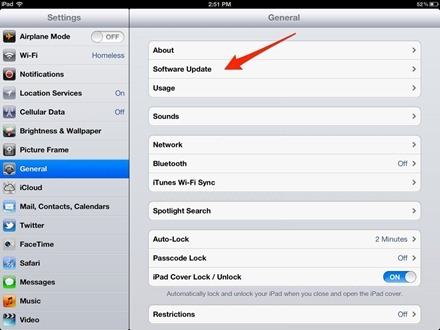 iPad Software Update
