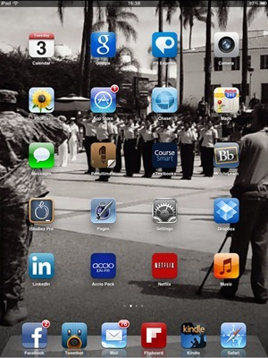 iPad home screen - Beth Elderkin