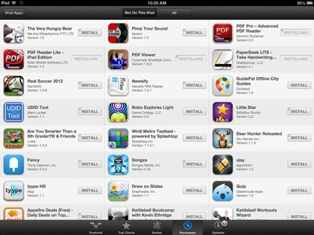 iPad iOS 6 Installing Apps