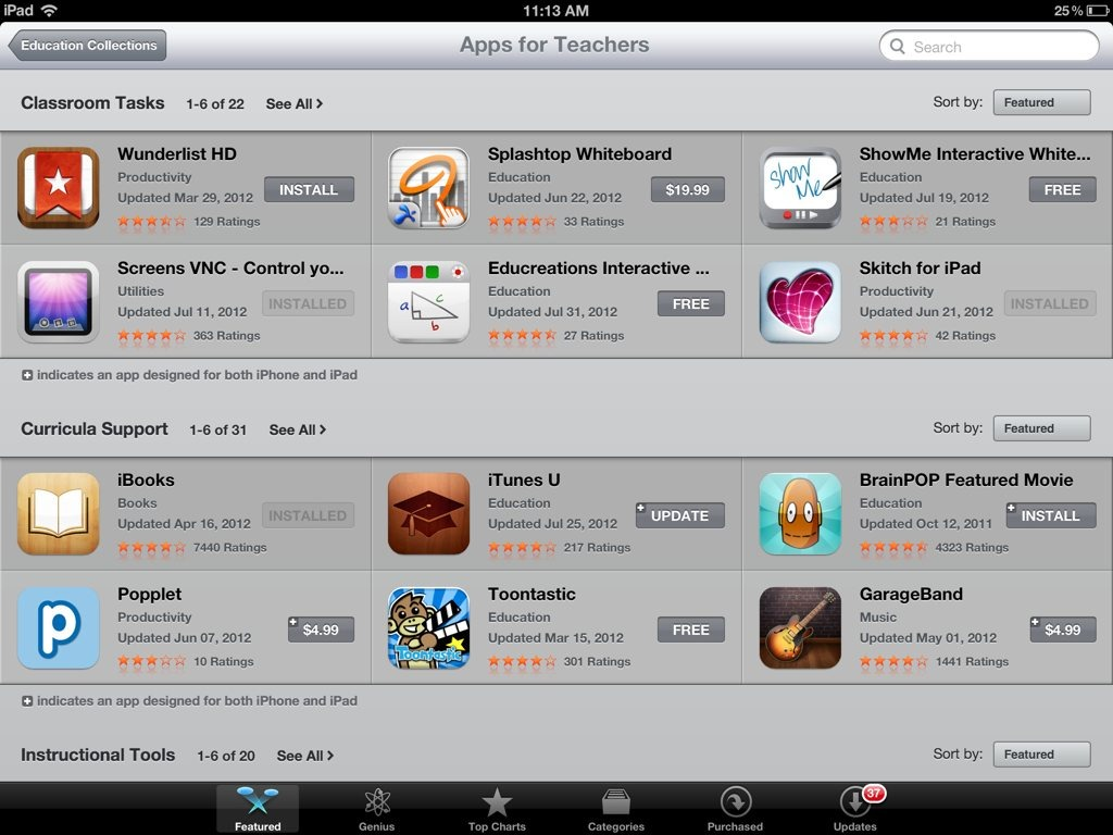 Education Collections: Excellent iPad App Store Featured