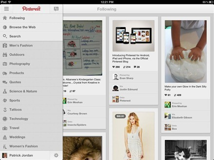 Pinterest for iPad