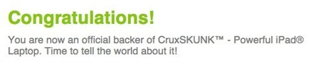 CruxSKUNK Backer