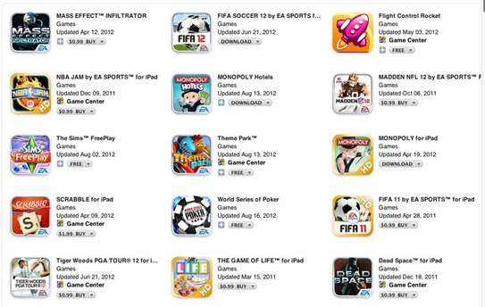 EA iPad Games on Sale