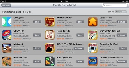 Family Game Night iPad App Store