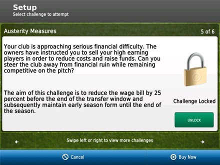Football Manager Handheld 2012 iPad game