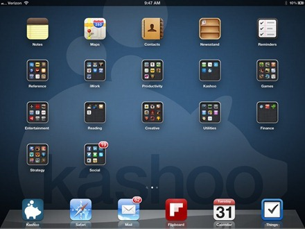 Jim Secord iPad home screen