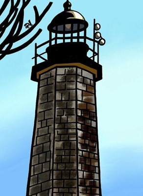 Lighthouse iPad painting