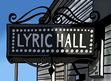 Lyric Hall iPad painting