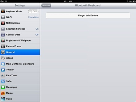 iPad Bluetooth Forget This Device