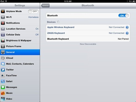 iPad Bluetooth Keyboard Pairing