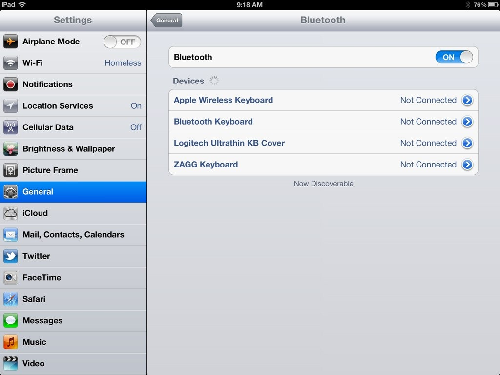 A Fix for When an iPad Bluetooth Keyboard is Not Recognized