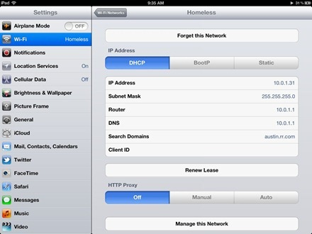 iPad DNS Settings