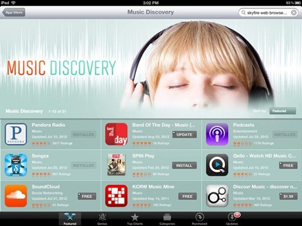 iPad Music Discovery apps