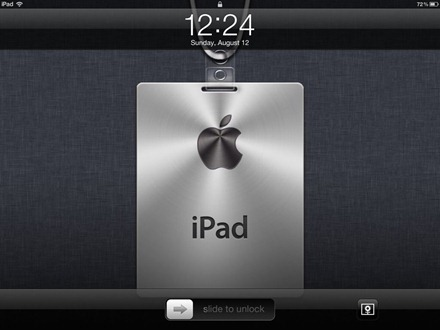 iPad Nametag Lock Screen