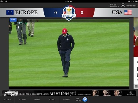 2012 Ryder Cup for iPad