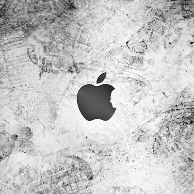 Steve in Apple logo iPad wallpaper