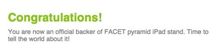 FACET Backer