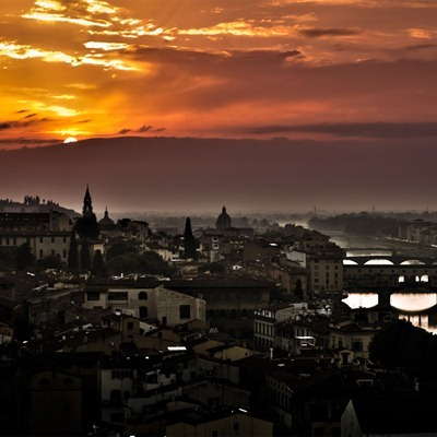 Florence Sunset iPad wallpaper