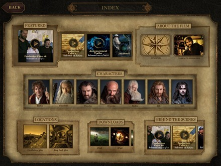 Hobbit Movies iPad app