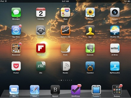Landmark iPad home screen