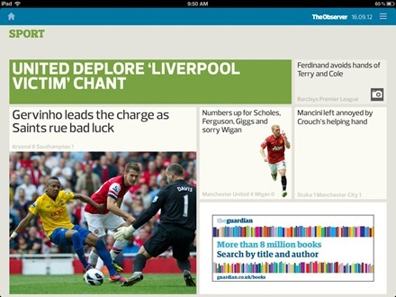 The Guardian and Observer iPad Edition