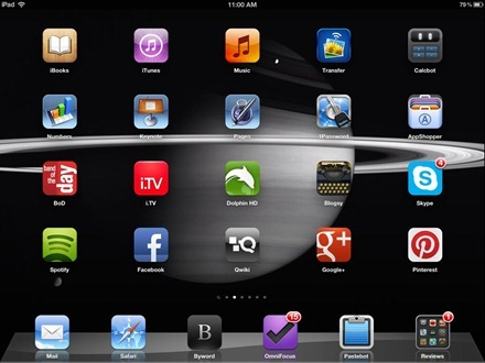 Saturn iPad home screen
